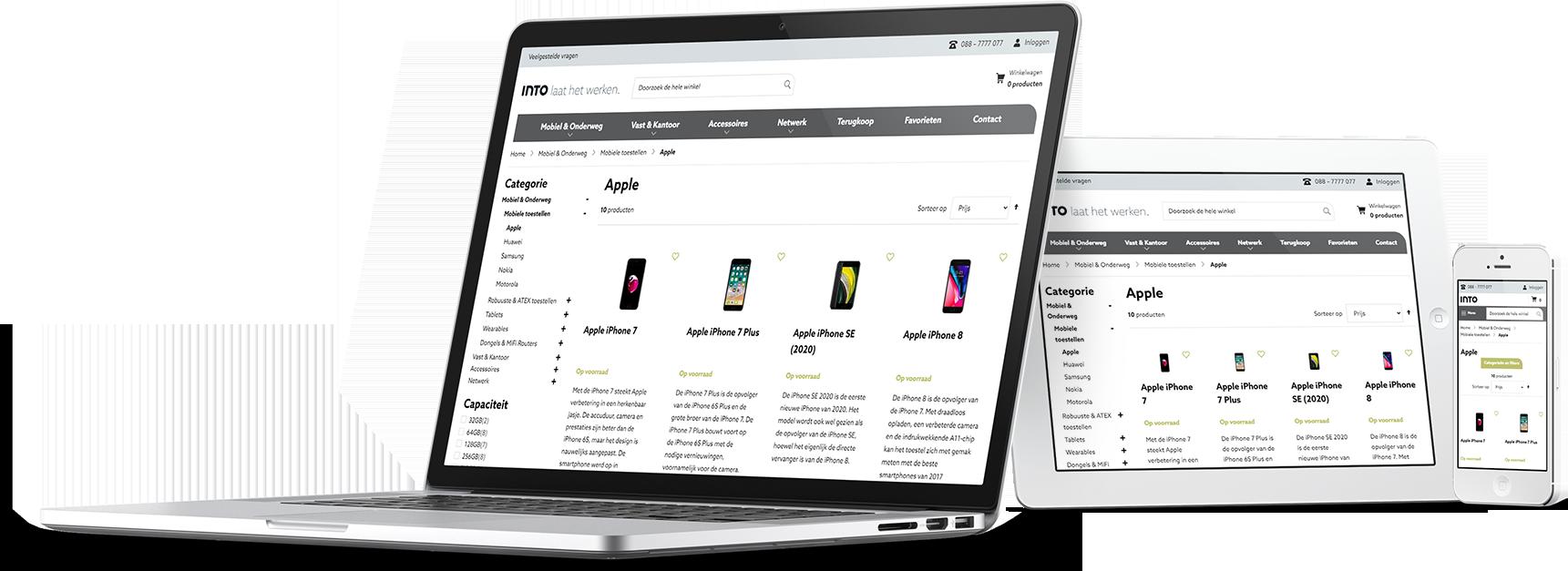 B2B magento 2 webshop INTO