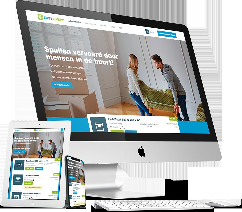 Easylivery - WordPress maatwerk platform