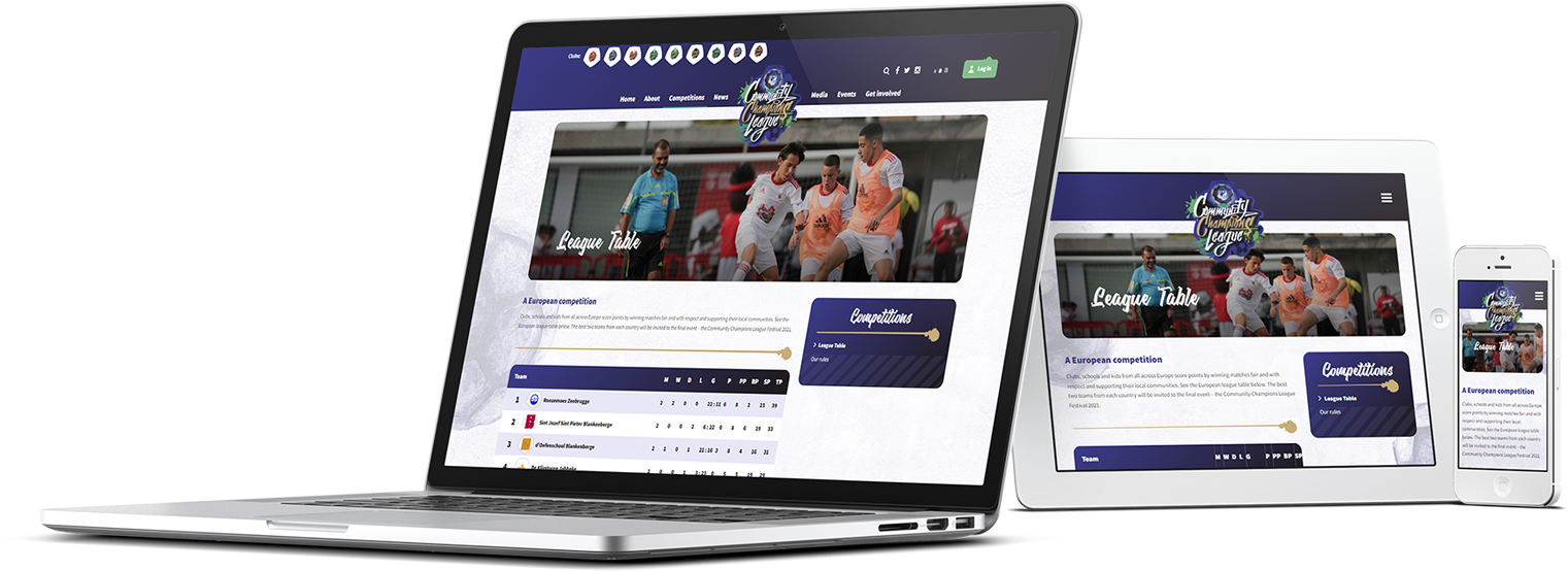 Maatwerk WordPress multisite Champions League Community Case